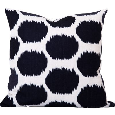Arzu Black Ikat Dot Cushion
