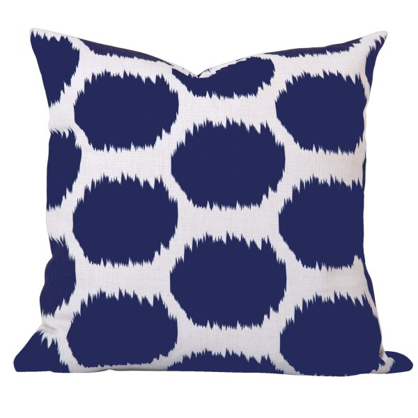 Arzu Blue Ikat Dot Cushion