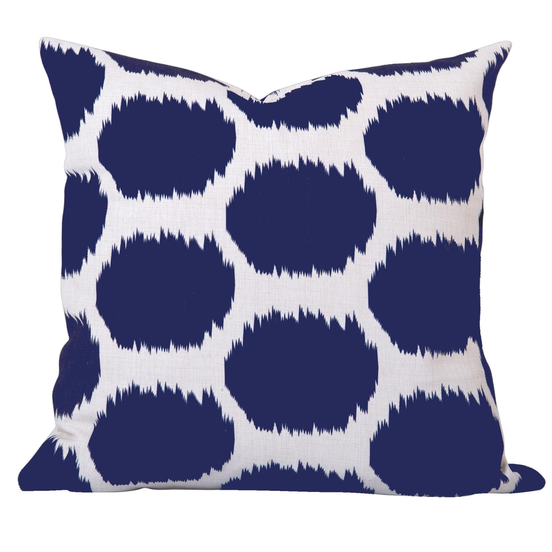 Arzu-Blue-Ikat-Dot-Cushion