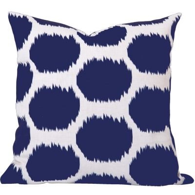 Arzu Blue Ikat Dot Cushion