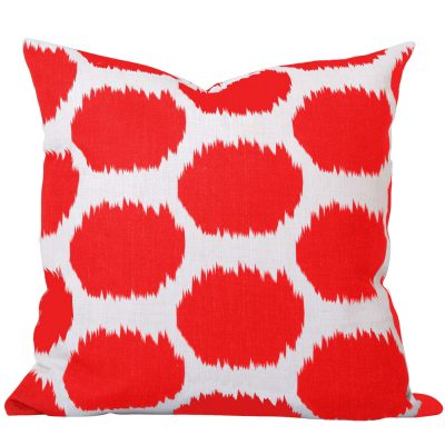 Arzu Orange Ikat Cushion