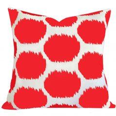 Arzu Orange Ikat Dot Cushion