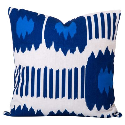 Bayou Blue Ikat Cushion