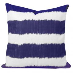 Blue-Ikat-Stripe-Cushion