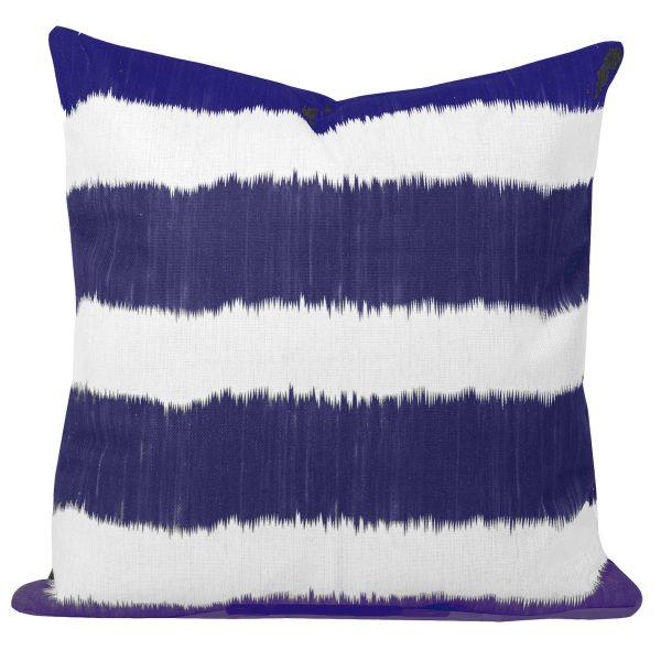 Blue-Ikat-Stripe-Cushion