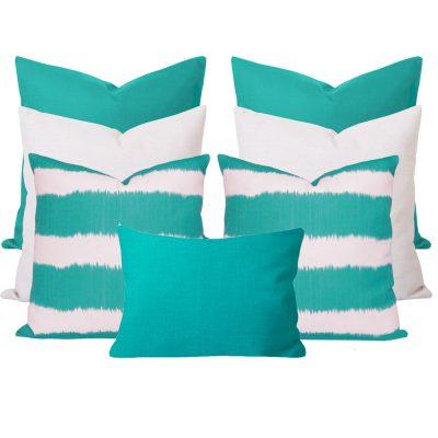 Bayou Georgia Turquoise 7 Cushion Set