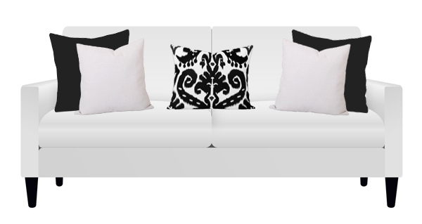 Georgia Black and Orient Black Cushions