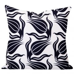 Dianne Black Ikat Cushion