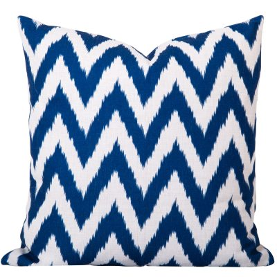 Gaia Blue Ikat Cushion