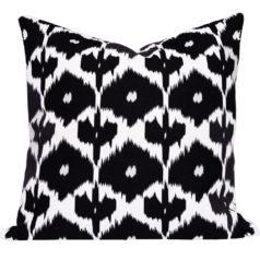 Kristine Black Ikat cushion