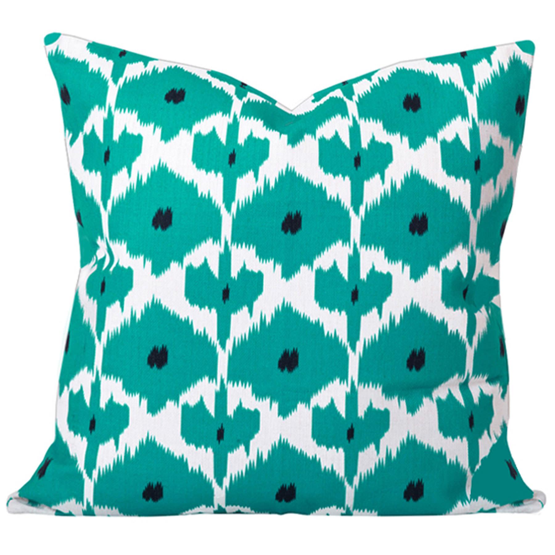 Kristine-Turquoise-Ikat-Cushion