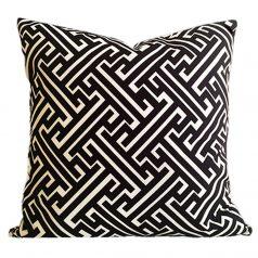 Maze-Black-Geometric-Cushion