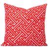 Maze Orange Geometric Cushion