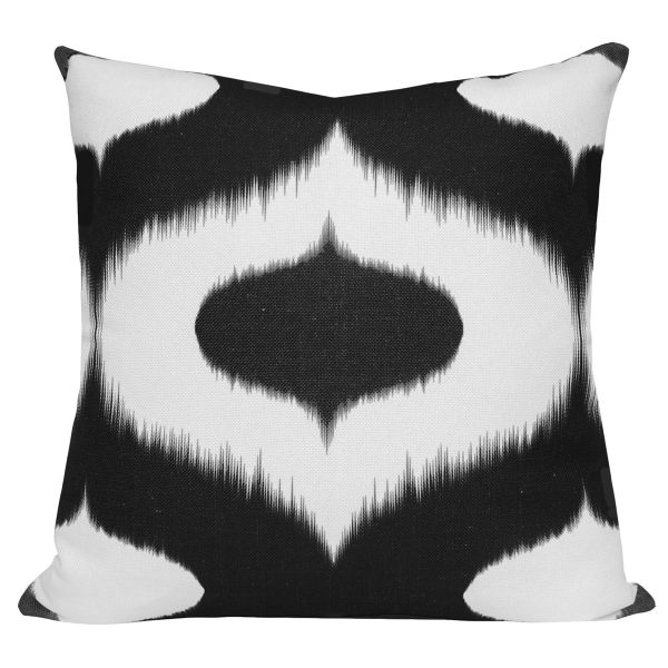 Neveen Black Ikat Cushion