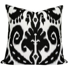 Orient Black Ikat Cushion