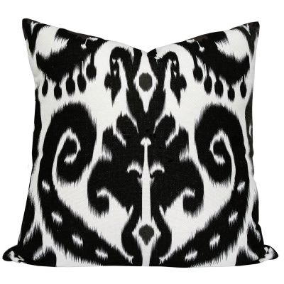 Orient Black Ikat Cushion