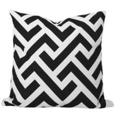 Zedd Black Geometric Cushion