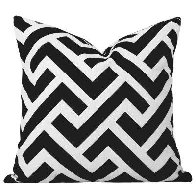 Zedd Black Geometric Cushions