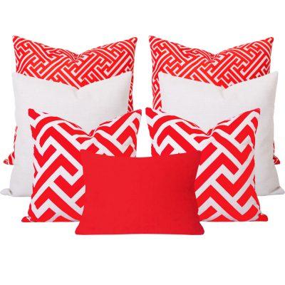 Zedd Maze Orange 7 Cushion Set