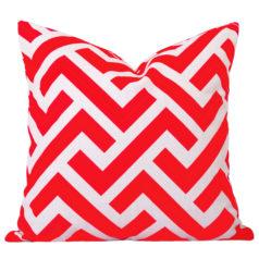 Zedd Orange Geometric Cushion
