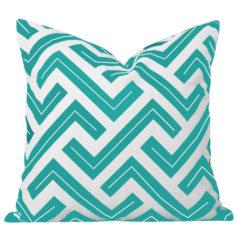 Zedd Turquoise Geometric Cushion