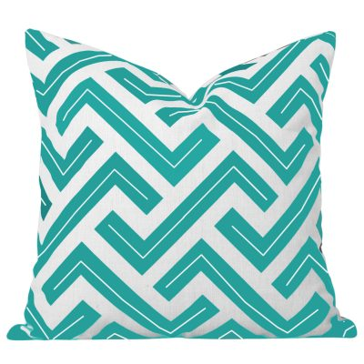 Zedd Turquoise Geometric Cushion