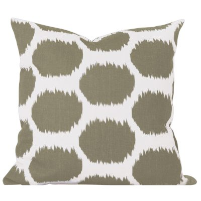 Arzu Taupe Ikat Dot Cushion