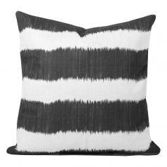 Bayou-Black-Ikat-Stripe-Cushion.