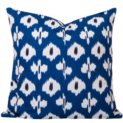 Kristine Blue Ikat Cushion