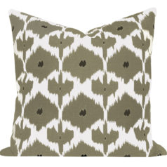 Kristine Taupe Ikat Cushion