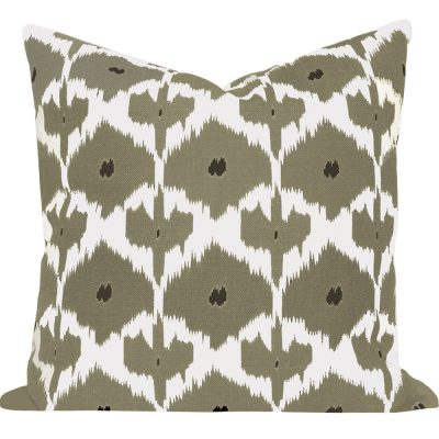 Kristine Taupe Ikat Cushion