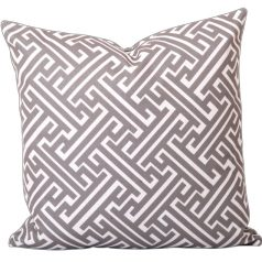 Maze Taupe Geometric Cushion Cover CB0026