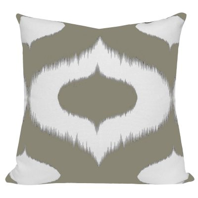 Neveen Taupe Ikat Cushion