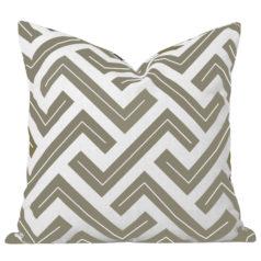 Zedd Taupe Geometric Cushion