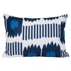 Bayou Blue Ikat Rectangular Cushion