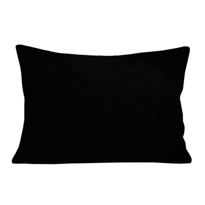 Georgia Plain Black Rectangular Cushion