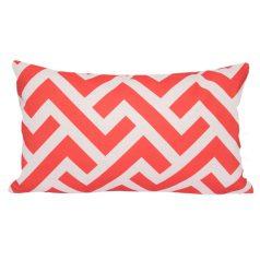 Zedd One Geometric Recdtangular Orange Cushion