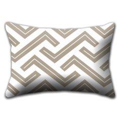 Zedd Two Taupe Rectangular Cushion Cover