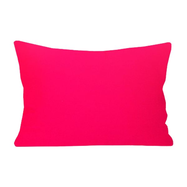 Georgia Plain Pink Rectangular Cushion