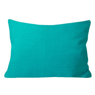 Georgia Plain Turquoise Rectangular Cushion