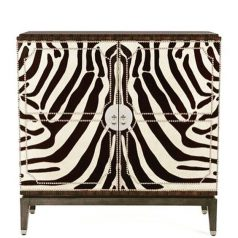 Black and White Zebra Cocktail Cabinet