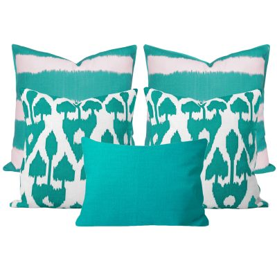 Bayou Amare Turquoise 5 Cushion Set