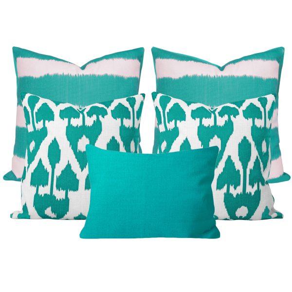 Bayou Amare Turquoise 5 Cushion Set