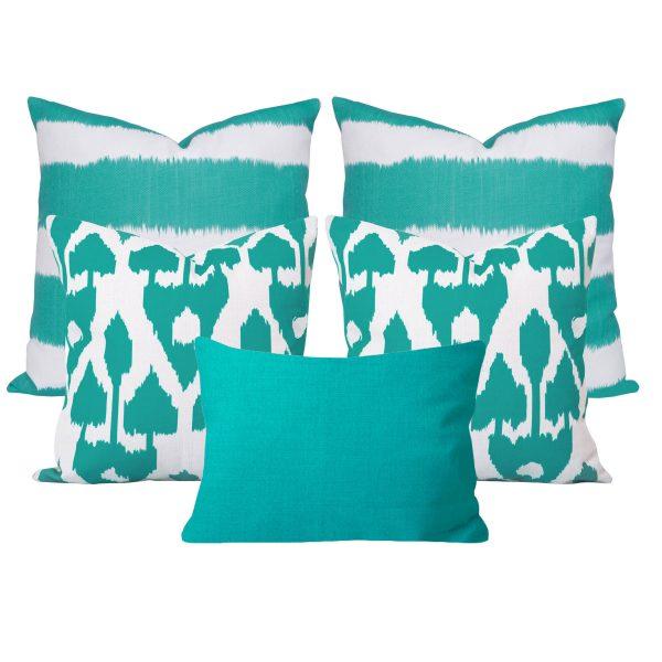 Bayou Amare Turquoise Cushion Set of 5