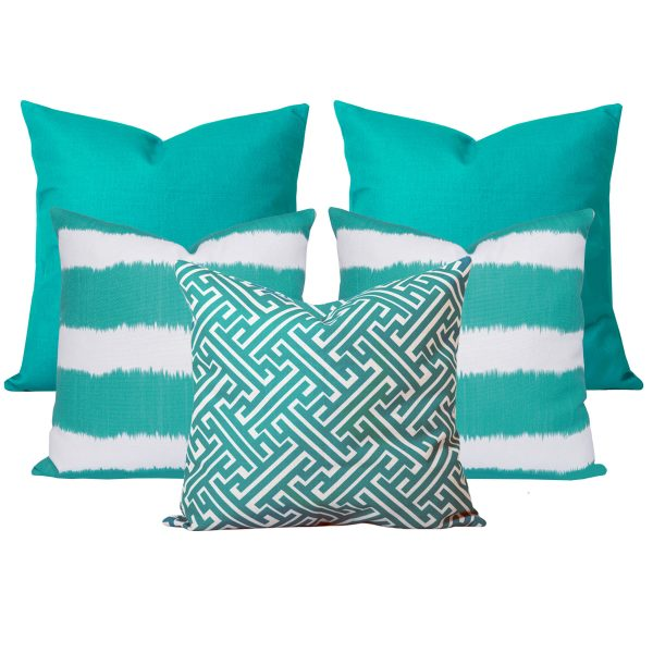 Georgia Bayou Turquoise Set of 5 Cushions