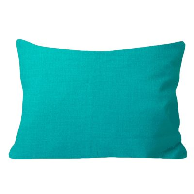 Georgia Plain Turquoise Rectangular Cushion