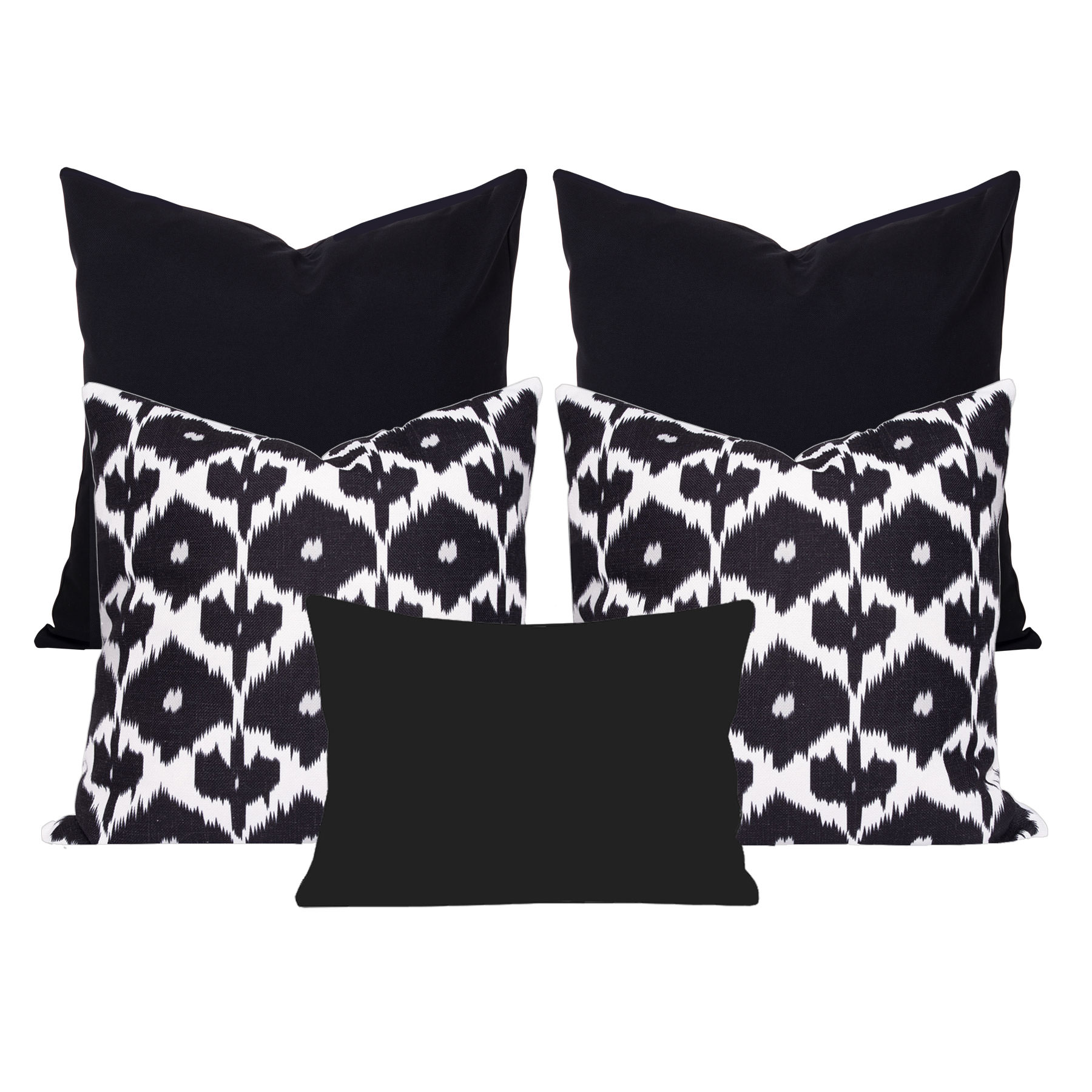 Kristine-Black-Ikat-5-Cushion-Set