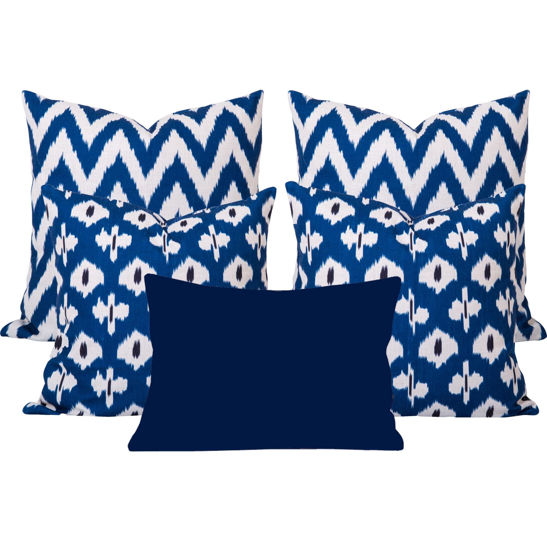 Kristine-Gaia-Blue-Ikat-5-Cushion-Set