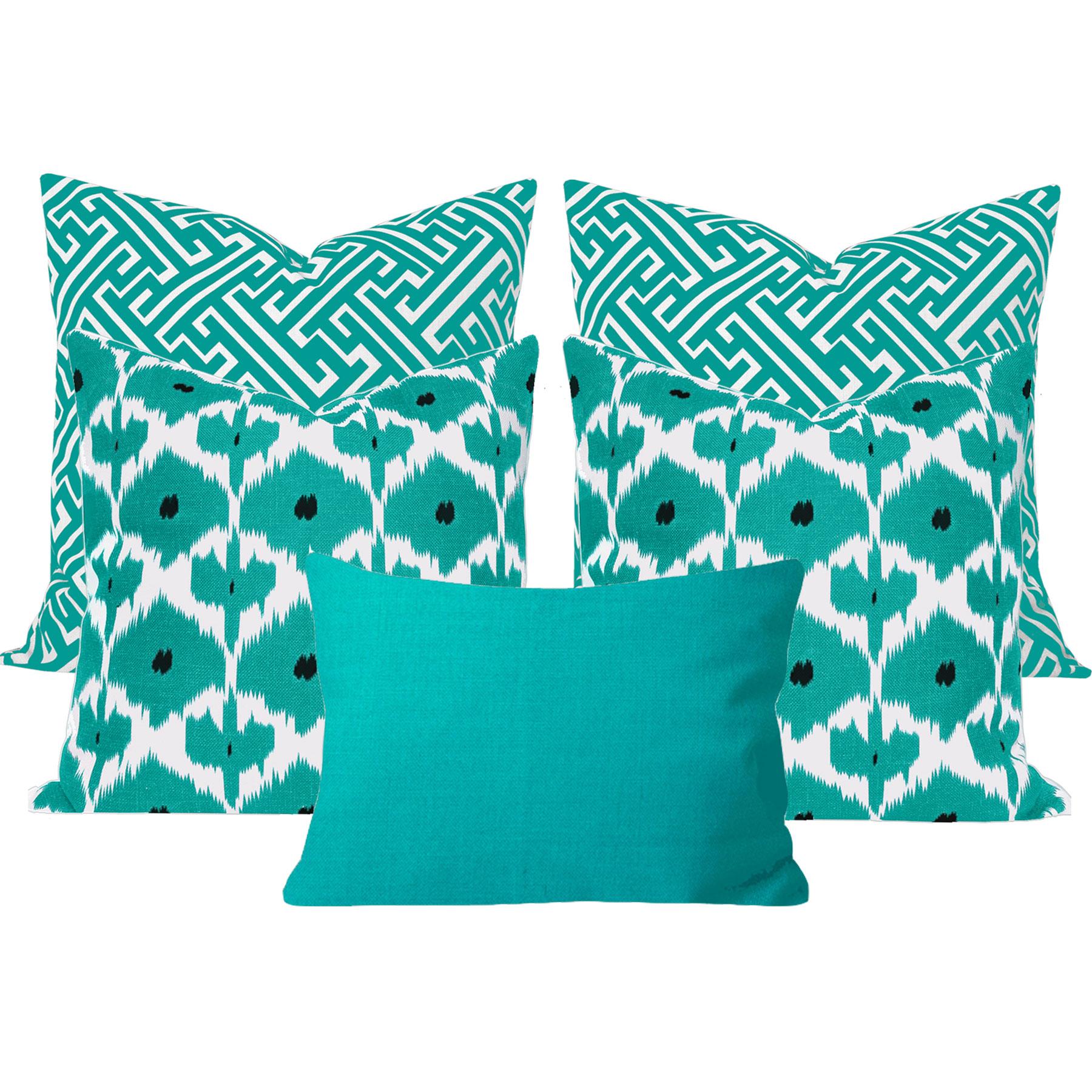 Kristine-Maze-Turquoise-5-Cushon-Set