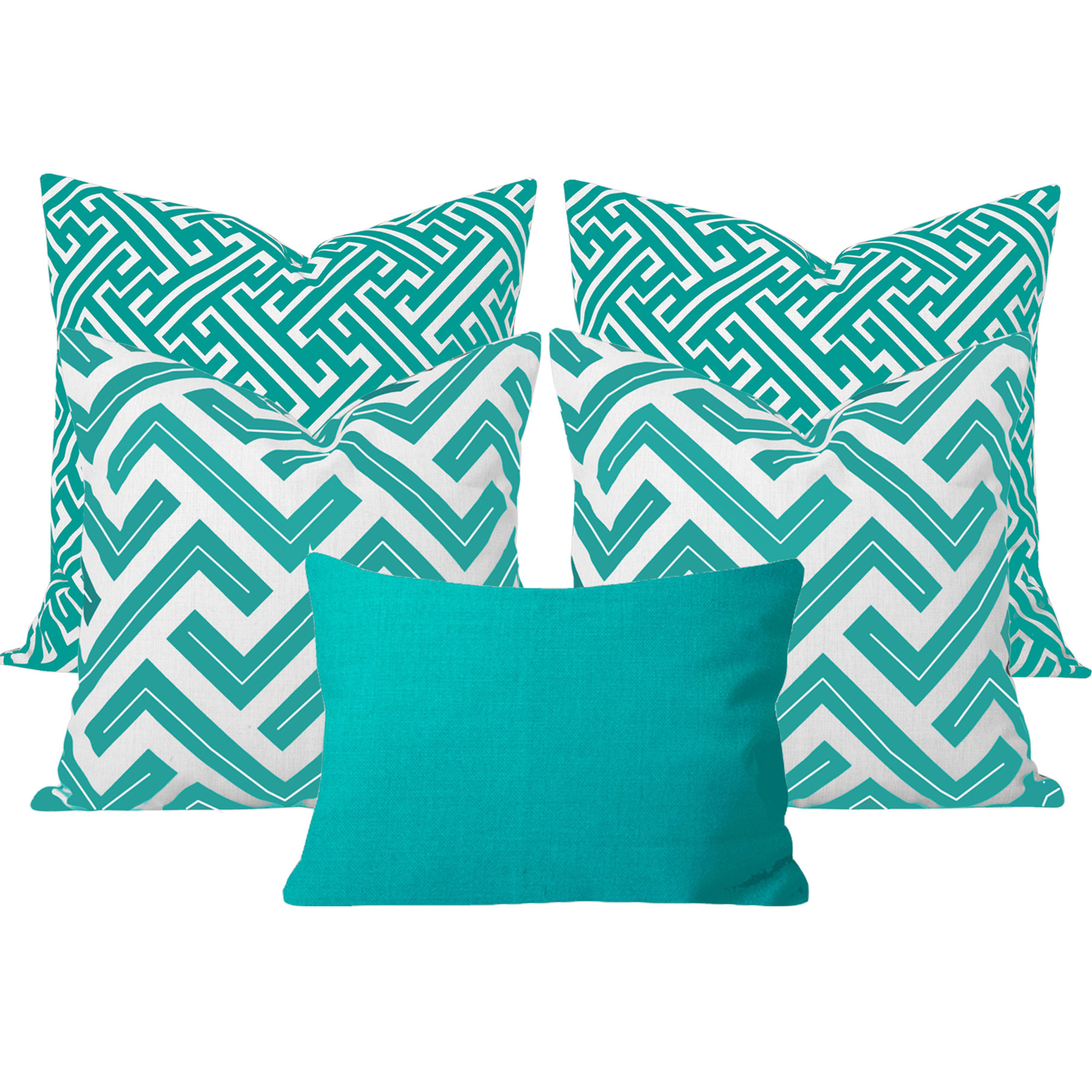 Zedd-Maze-Turquoise-5-Cushion-Set